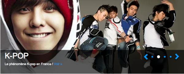 La 2eme fois que la K-POP est en couverture skyrock! & puis la JPOP maintenant..