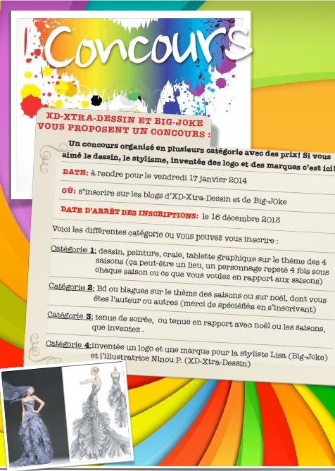 GRAND CONCOURS EN PLUSIEURS CATÉGORIE ! =)