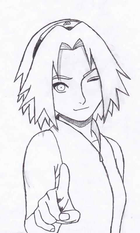 Sakura mes dessins de manga - Coloriage de naruto et sakura ...