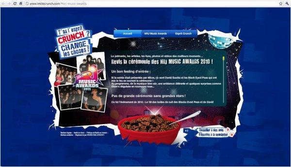 Tokio Hotel apparaît sur le site de Crunch pour les NRJ MUSIC AWARDS
