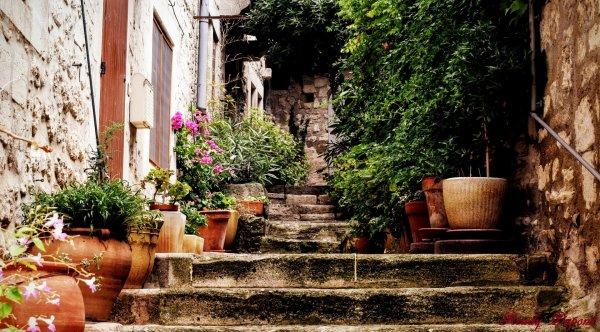 Début de balade aux Baux de Provence, venez, je vous emmène..