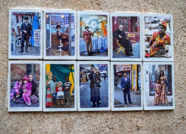 Backtothestreet, un photographe qui colle au ciment ses photos volées sur les murs. Ici à Arles. la dernière est dans le théme, mais n'a pas de rapport. Il est facile à trouver sur le net. J'adore