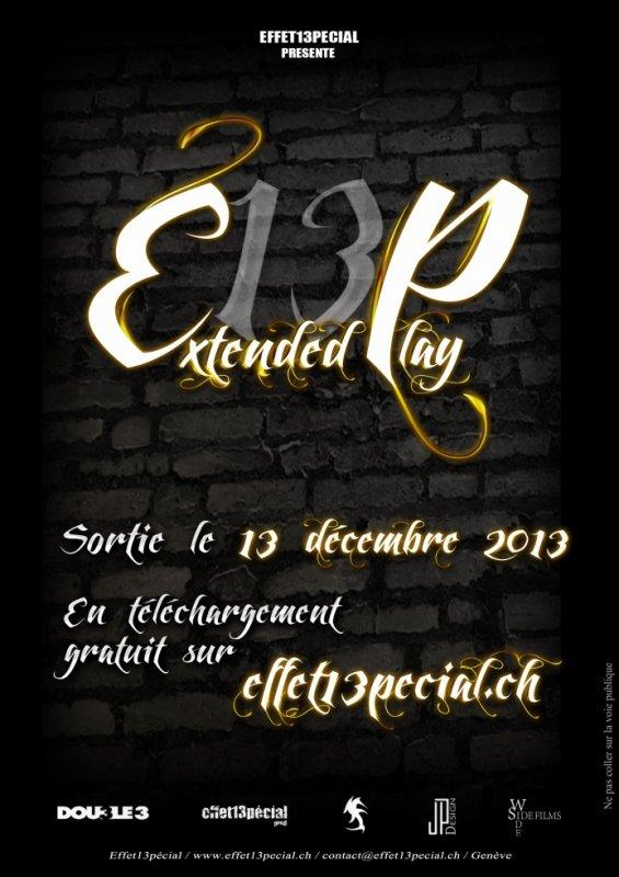 Flyers du EP Effet13pécial