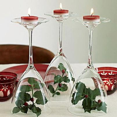 deco verres et bougies pour noel