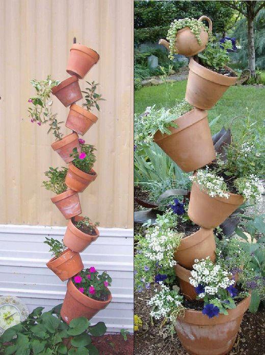 deco  de pots de fleurs