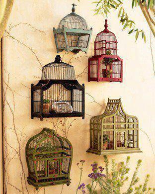 deco  cages à oiseaux
