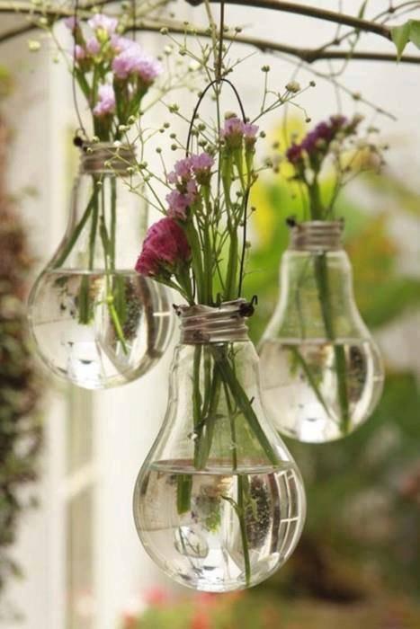 deco suspensions  d'ampoules vase