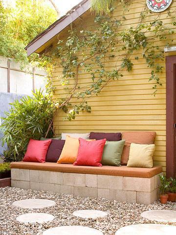 banc de jardin en parpins