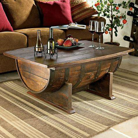demi tonneau table basse