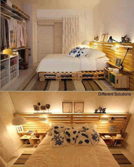 lit avec des palettes