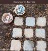 jeu  Tic Tac Toé avec des cailloux