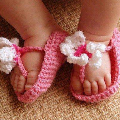 petit chausson rose /blanc pour fille