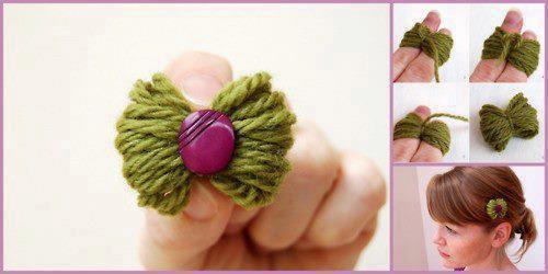 chouchou pour cheveux en laine