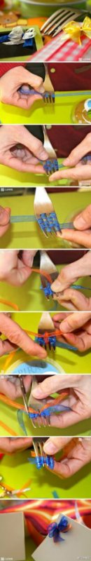 deco de noeud avec une fourchette