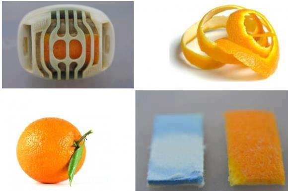 ecorce d'orange dans prise moutiquaire