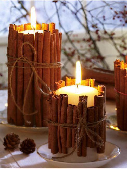 bougies deco cannelle pour noel