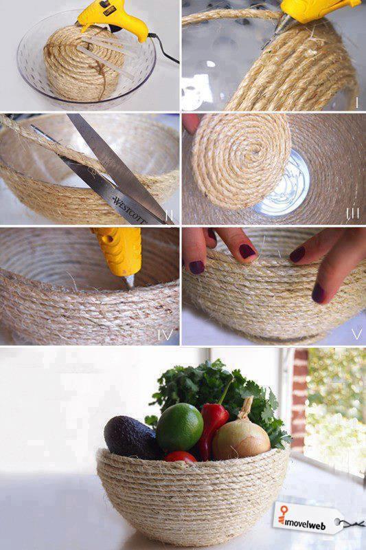 corbeille à fruits avec de la ficelle