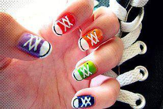 deco ongles baskets