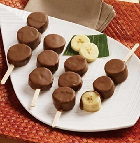 brochettes de bananes chocolat
