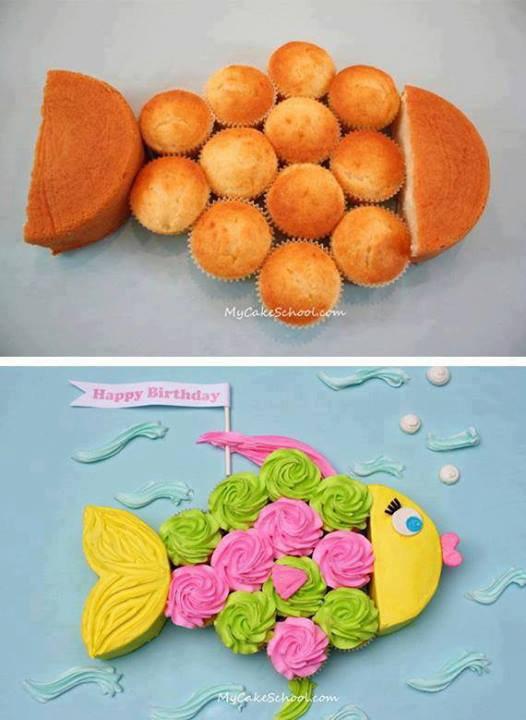 poisson en gateau d'anniversaire