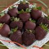 bonbons de fraises chocolat