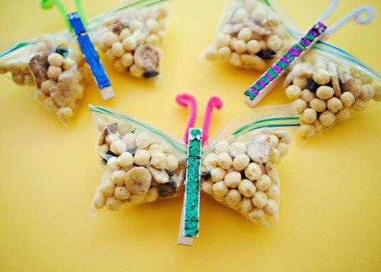 sachets de papillons pour bonbons d'anniversaire