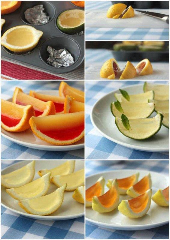 citrons ou oranges glaçées