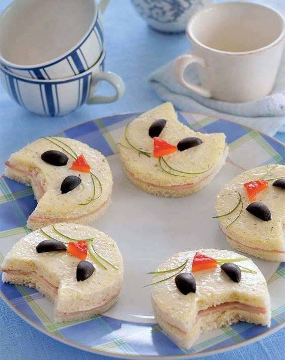 sandwichs têtes de chats
