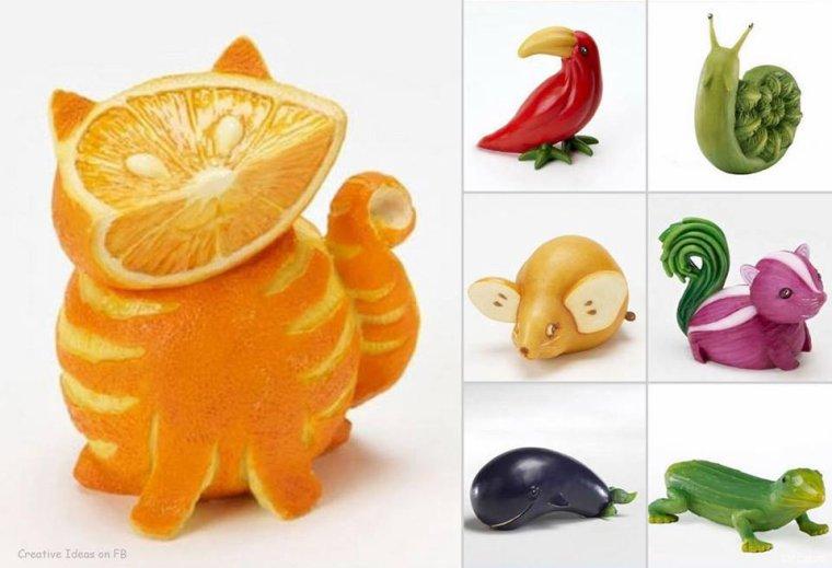 animaux fruits et légumes