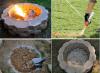 fabrication d'un puits feu de camp