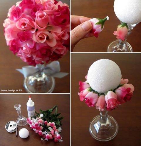 déco : bouquet de roses