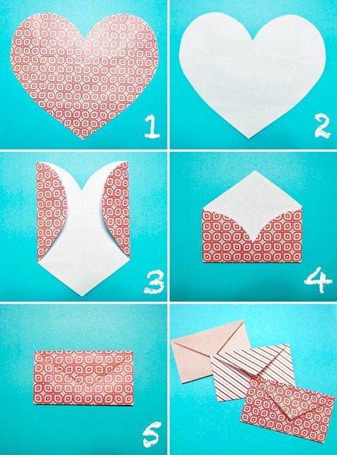 comment faire une enveloppe coeur ...
