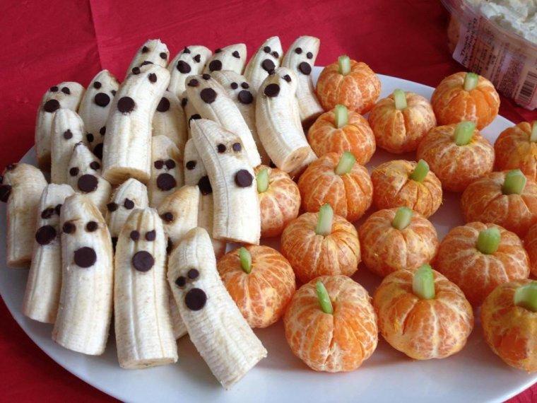 bananes et clementines Halloween