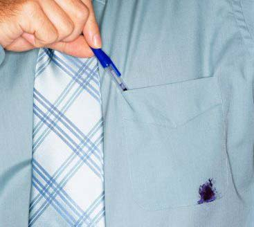 Enlever une tache de stylo à bille