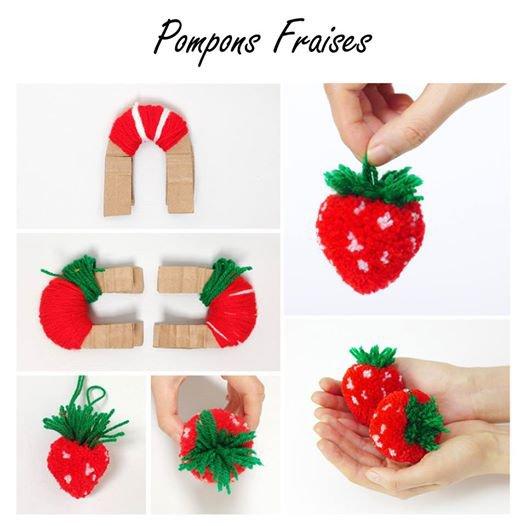 les pompons et les fraises