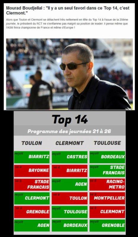 """Mourad Boudjellal : """"Il y a un seul favori dans ce Top 14, c'est Clermont."""""""