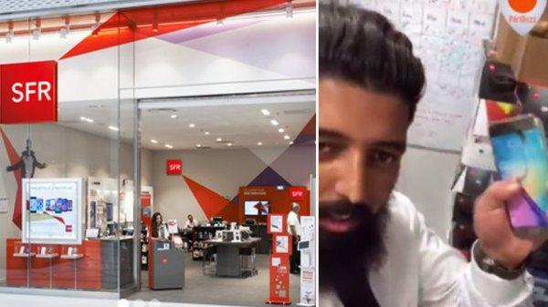 Des employés de SFR détruisent le smartphone d'un client en direct sur Periscope