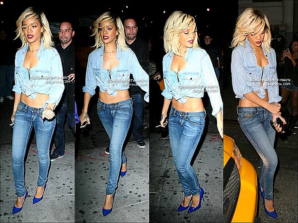 12/03/12 : Rihanna aperçue à New-York se rendant dans en boîte de nuit, puis retournant dans son hôtel.