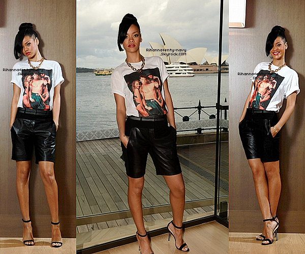 """10/04/12 : Rihanna été à la première mondiale du film """"Battleship"""" à Sydney."""