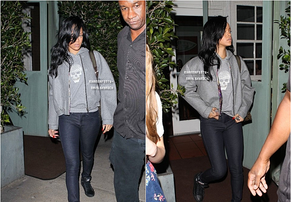 """17/04/12 : Rihanna était au restaurant Italien """"Giorgio Baldi"""""""