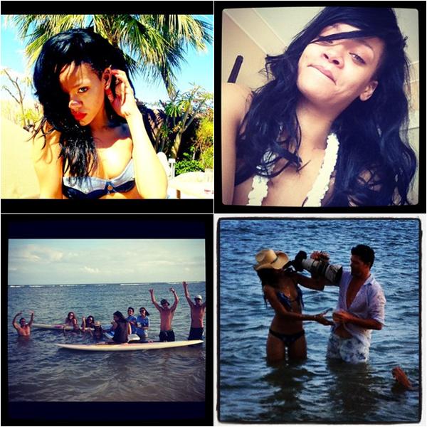 27/04/12 : Rihanna a été aperçue sur une plage d'Hawaii.