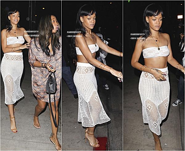"""15/05/12 : Rihanna était au restaurant """"Giorgio Baldi"""" à Los Angeles."""