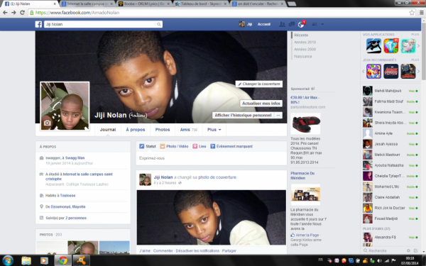 voilà mon Facebook