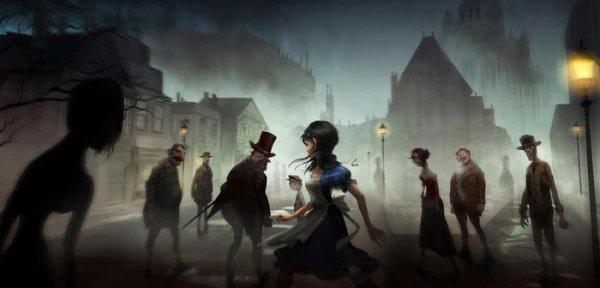 """Rendu dans la belle animation 3D, Alice pénètre dans les """"Otherlands"""" des plus belles et terrifiant esprit de Londres."""