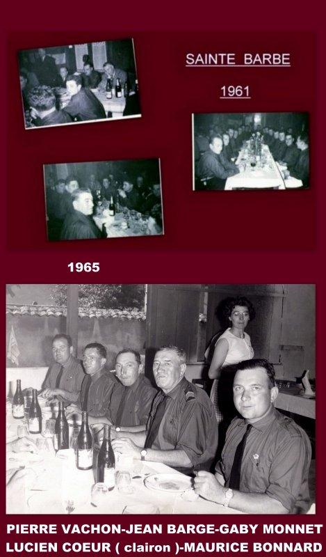 9 -   REPAS SAINTE BARBE 1961 - 1965