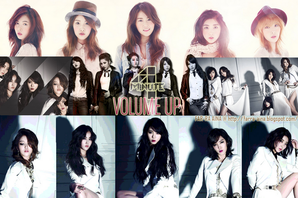 4MINUTE - Volume Up ~  Da chiugo Pump up the volume ! (Up up) Deudgi silheo Pump up the volume ! (Up up) Galsurog deo byeonhaejil geoya doghage eh eh eh oh deo~♪