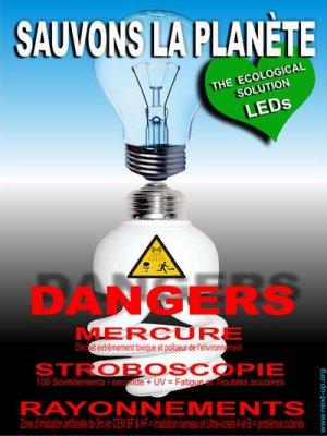 Danger Mercure lampe basse consommation (Lampe fluorescente compacte)