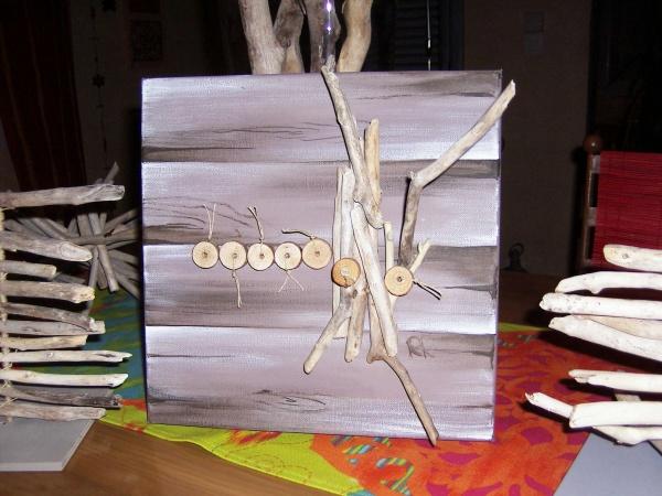 tableau bois flotté 6 - L\'atelier Déco de Rosane