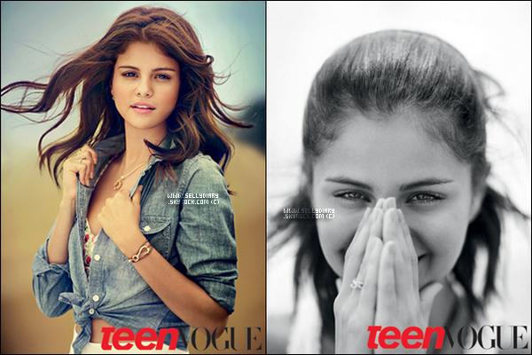 Selena a réaliser un photoshoot pour le magazine Teen Vogue dans lequel , elle y figure sur la couverture.