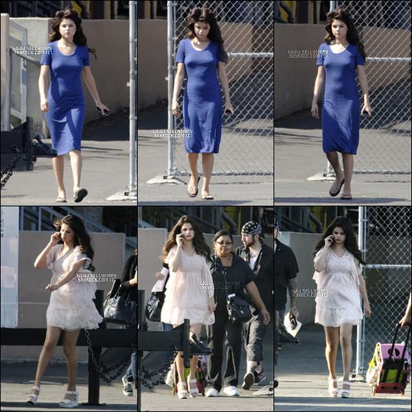 04.08.12 :   Selena a été vue une nouvelle fois sur le tournage de son nouveau film « Feed the Dog » à Los Angeles.